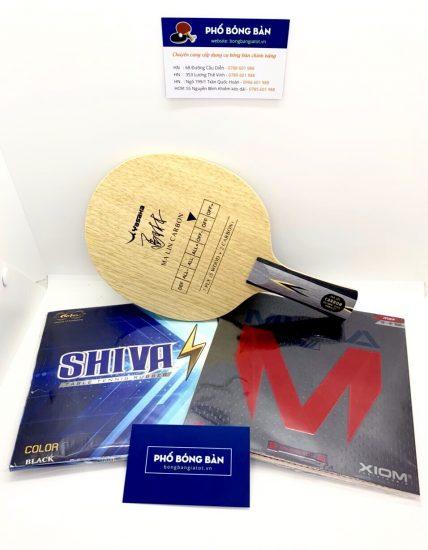 Bộ vợt Malin Carbon +Shiva +Musa3